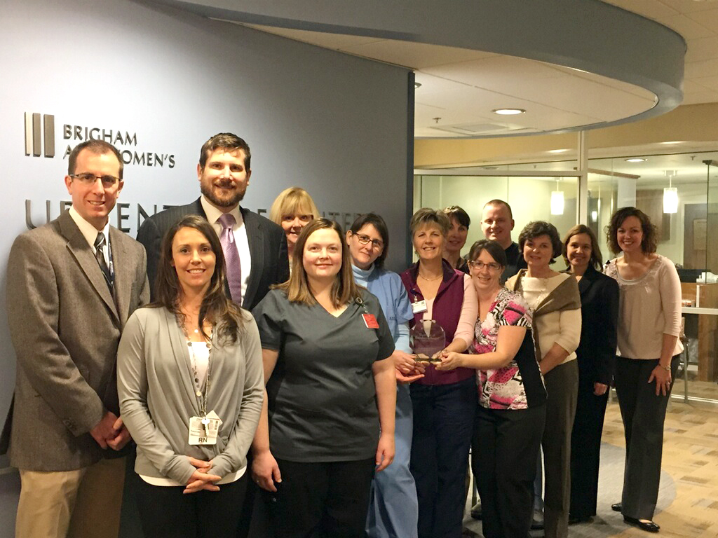 Foxborough's Urgent Care Center team (pictured) recently received a Press Ganey award.
