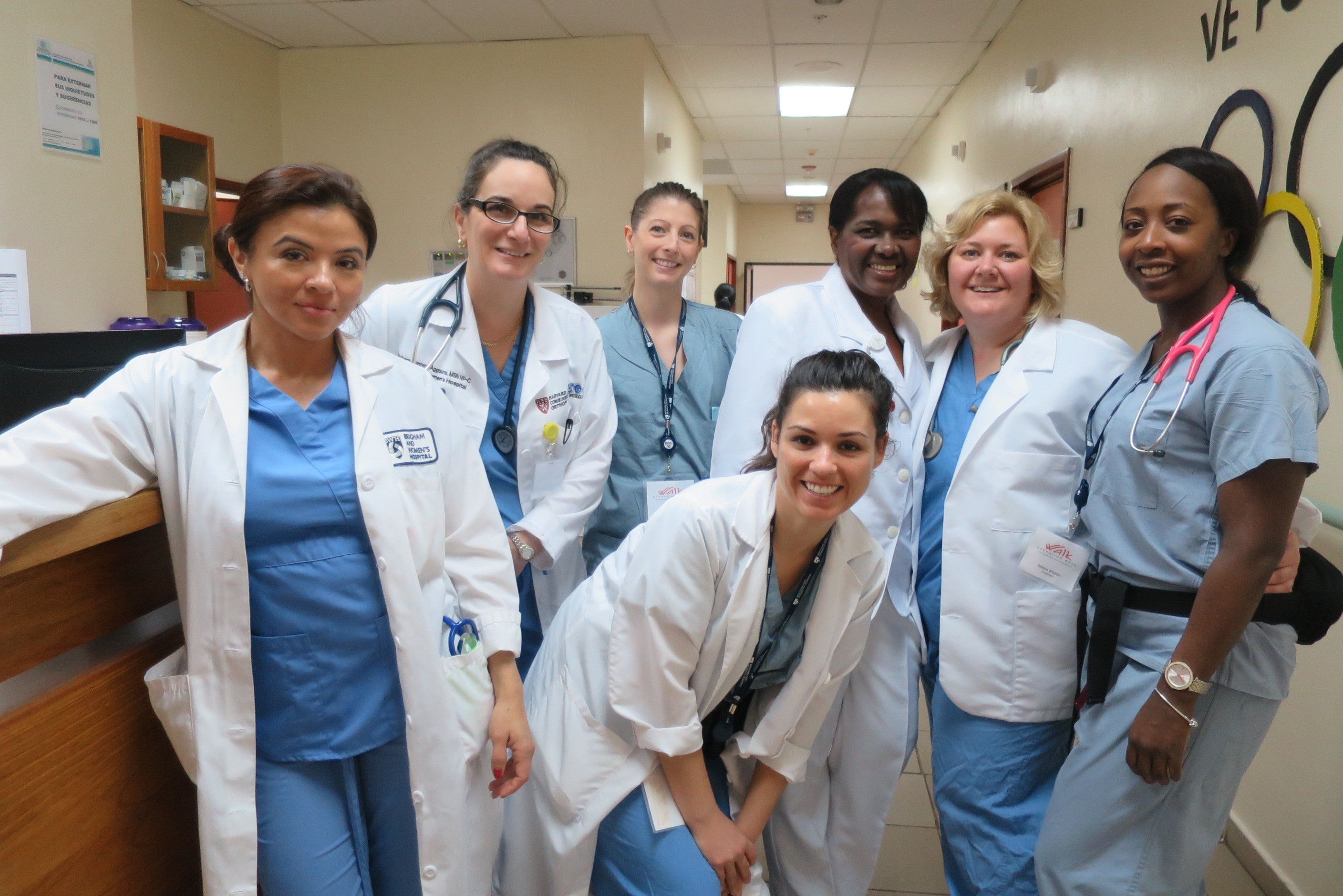 Nurses from BWH, BWFH, MGH and the Dominican Republic who participated in this year's mission take a group photo.