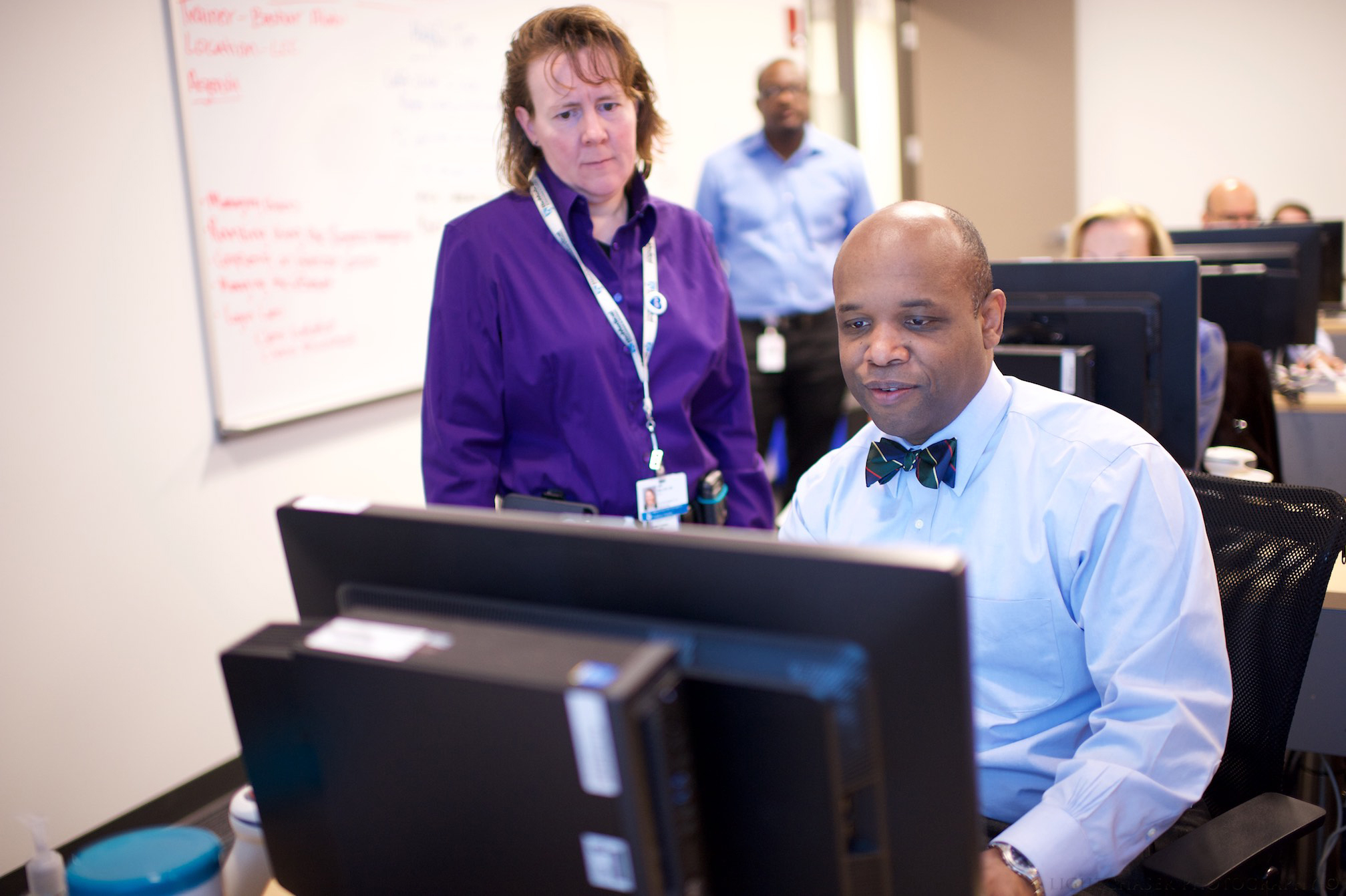 Amy Miller, chief medical information officer for Inpatient Clinical Services, and O'Neil Britton, Partners eCare chief health information officer
