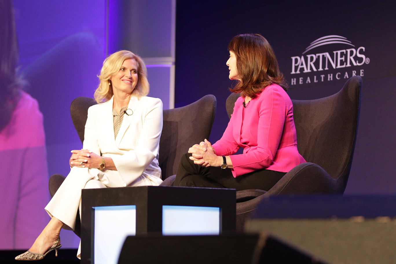 Ann Romney, left, shares her experiences as an MS patient with Dr. Nancy Snyderman of NBC News.