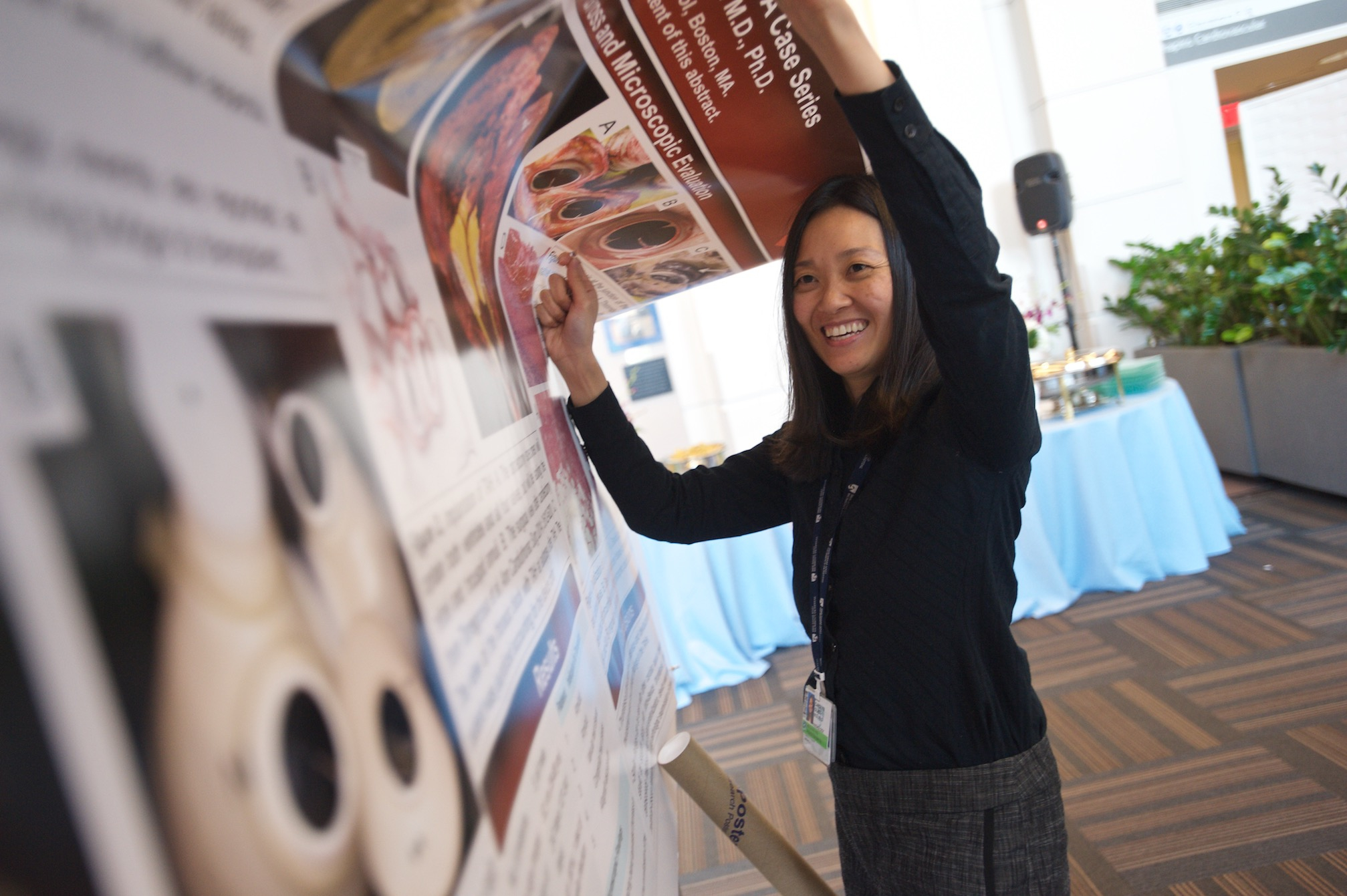 Pathology resident Carolyn Glass takes part in this year's annual research celebration.