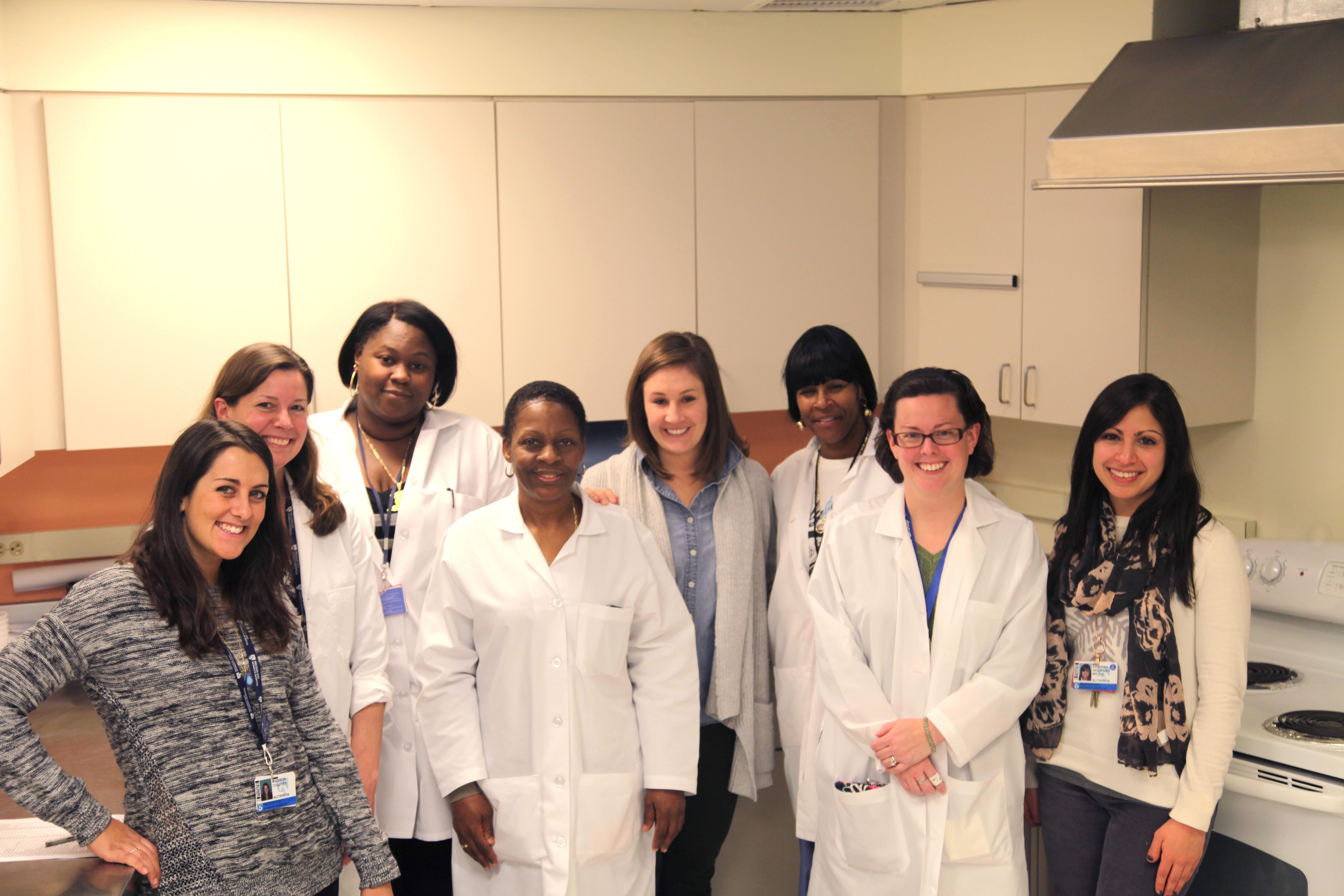Metabolic Test Kitchen staff