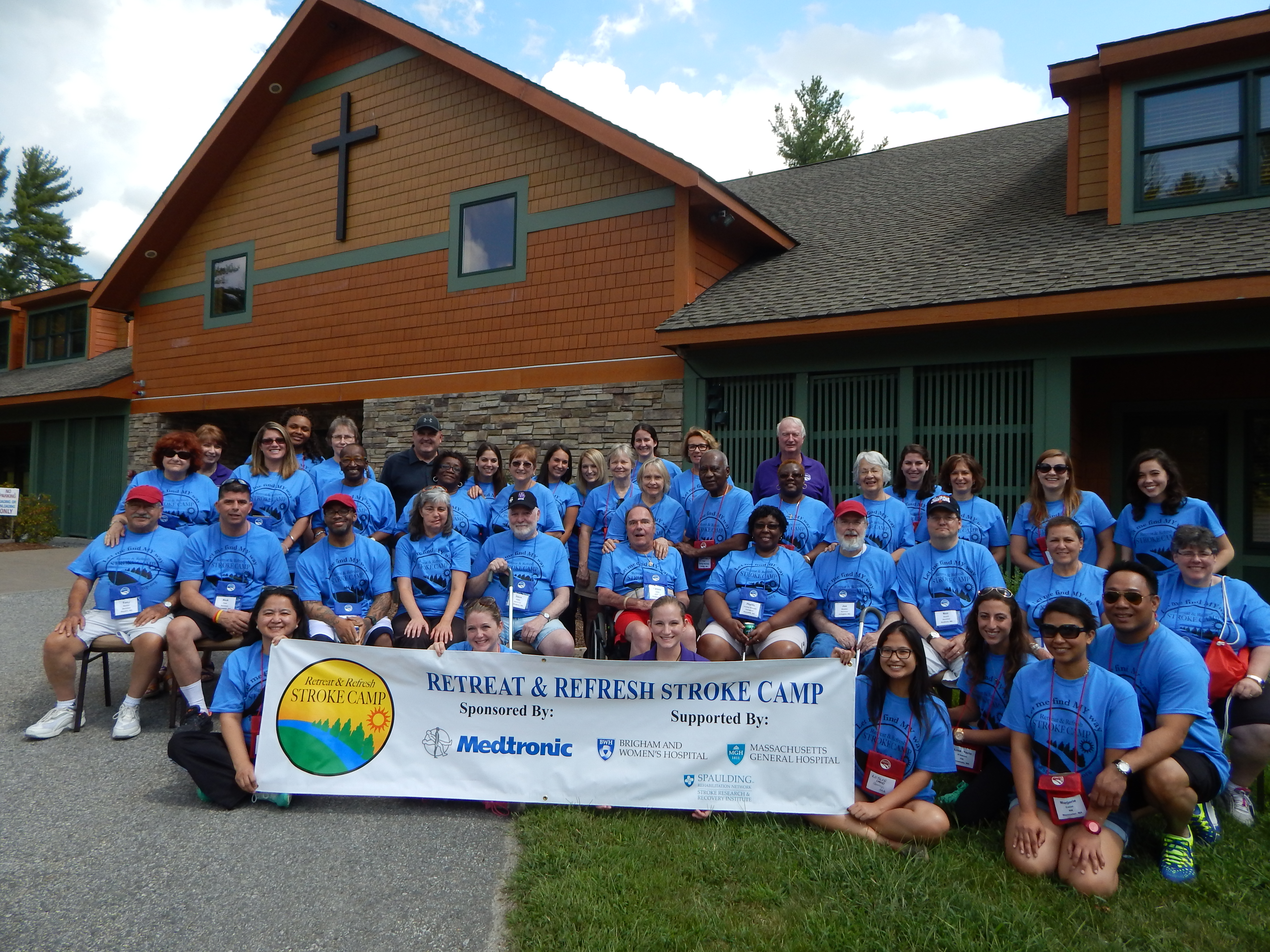 Participants of this year's Retreat & Refresh Stroke Camp, the first such event in New England