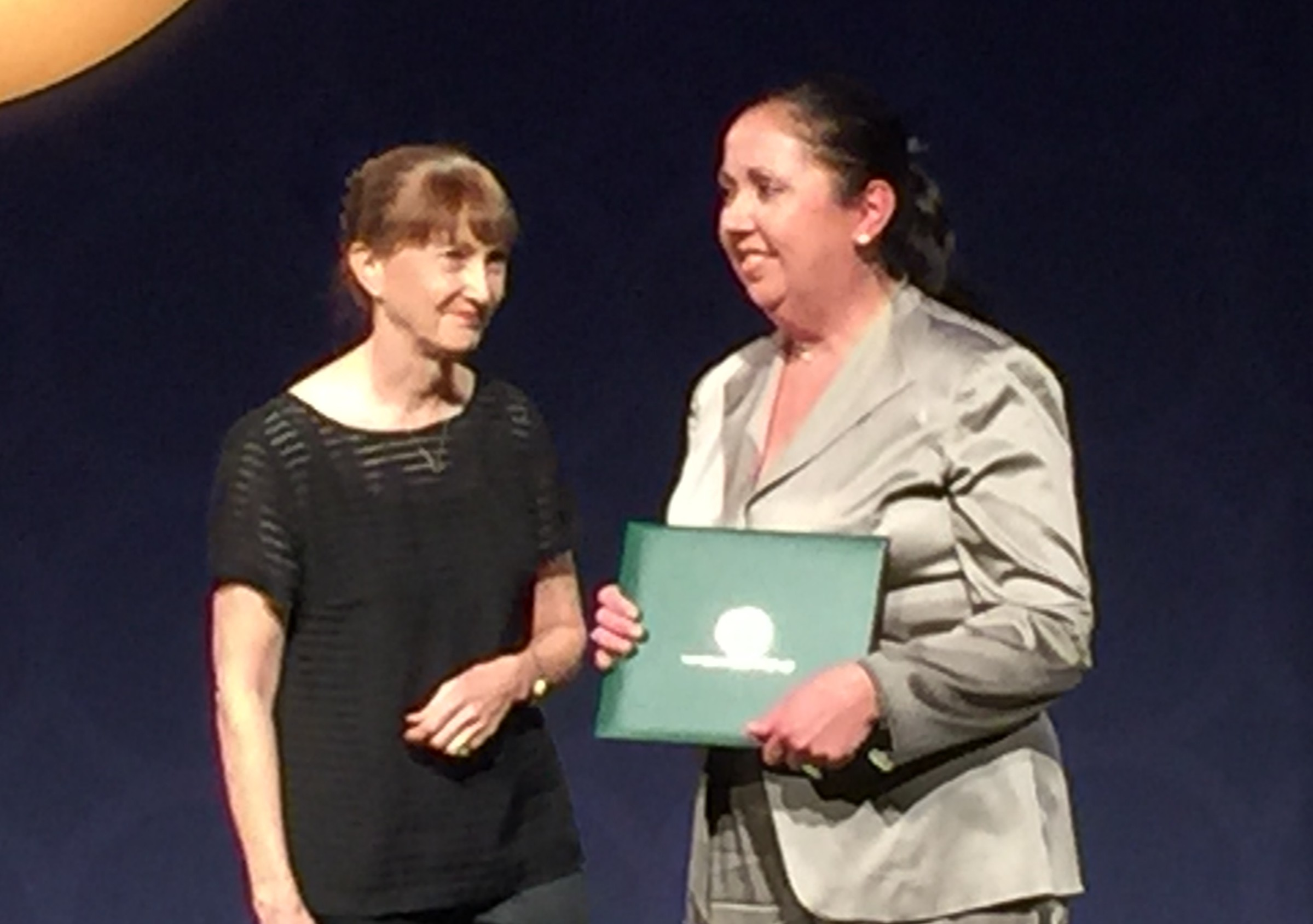 Jackie Somerville (at right) at the induction ceremony