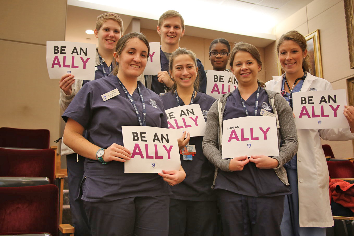 Simmons College nursing students from Tower 15C, with their instructor Lisa Gillis, BWH staff nurse (far right)