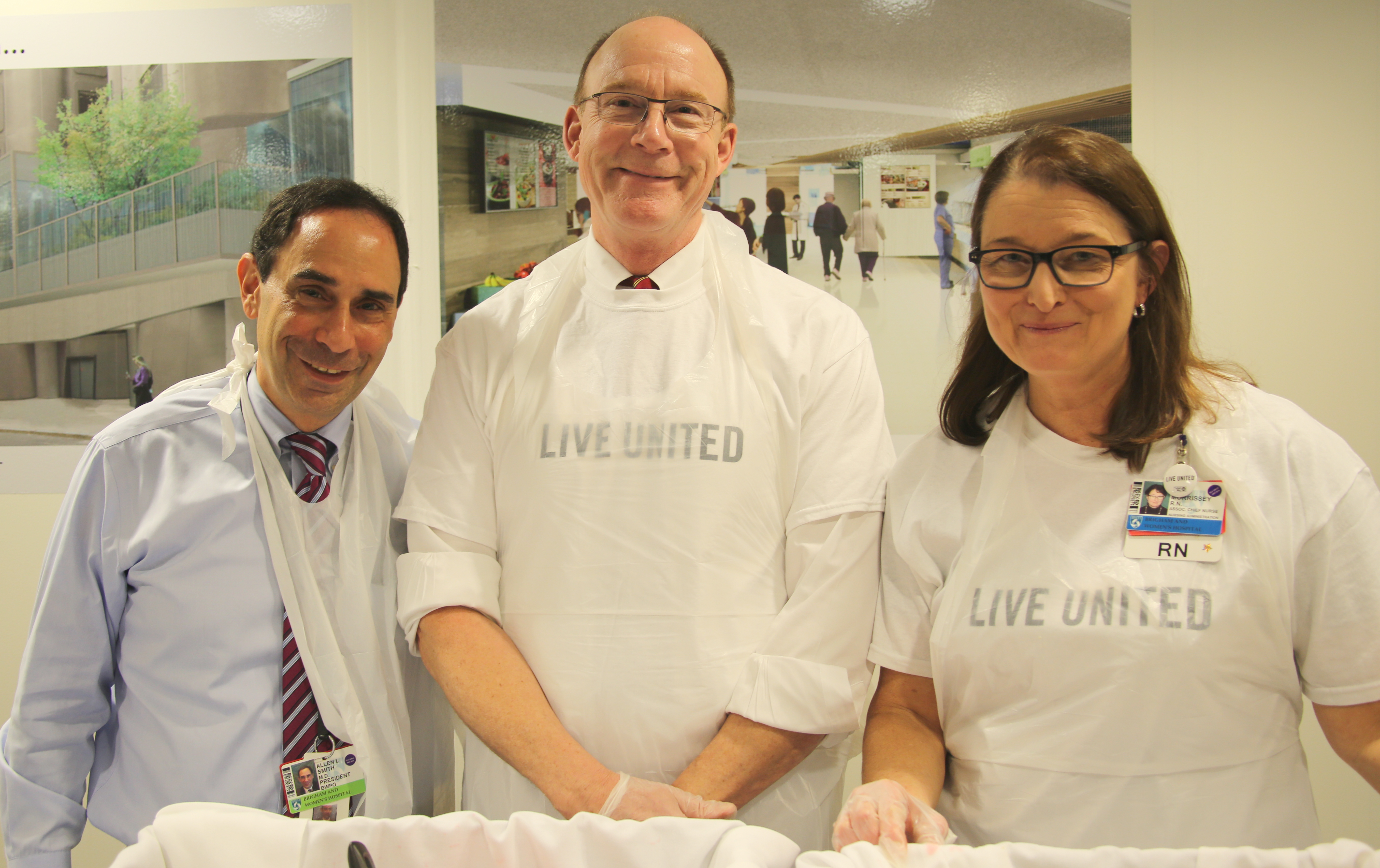 From left: United Way campaign co-chairs Allen Smith, Stan Ashley and Lisa Morrissey