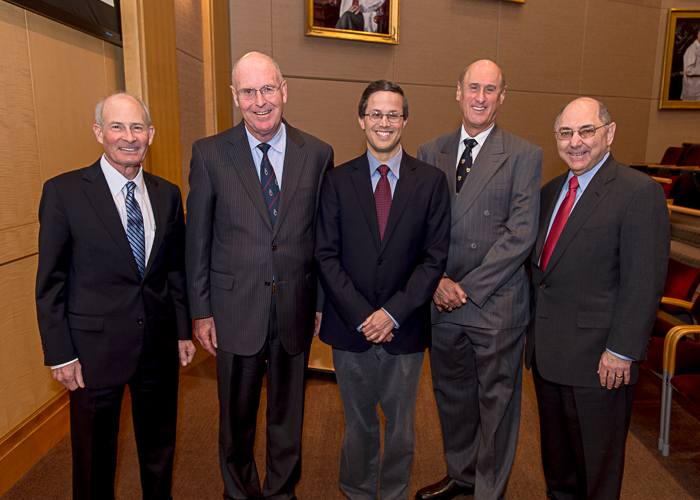 From left: LCU Directors, past and present, Gregory Curfman, John Rutherford, David Morrow, Joseph Alpert and Elliott Antman