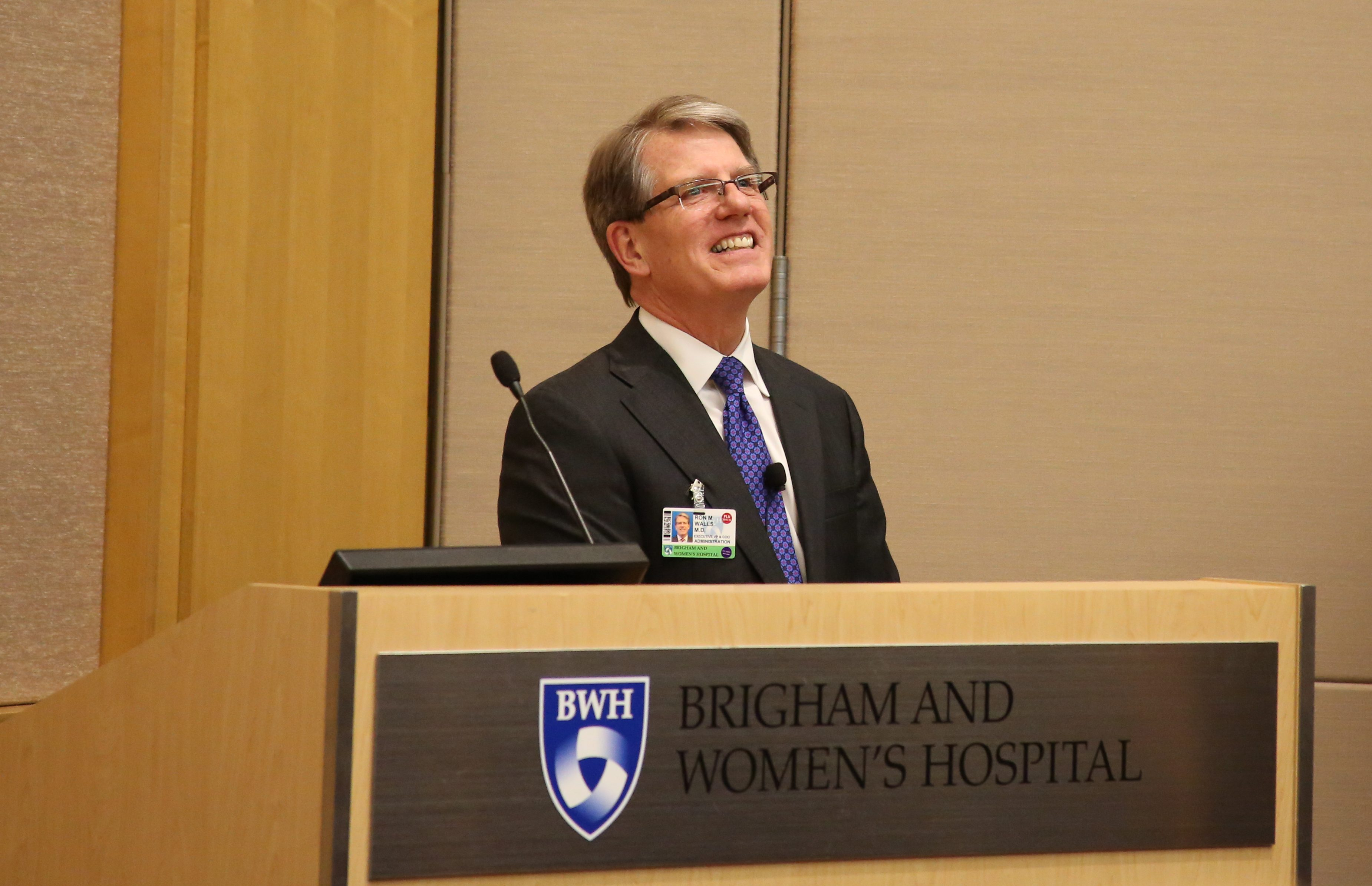 Ron Walls discusses the role patient safety plays in the Brigham's strategic priorities.