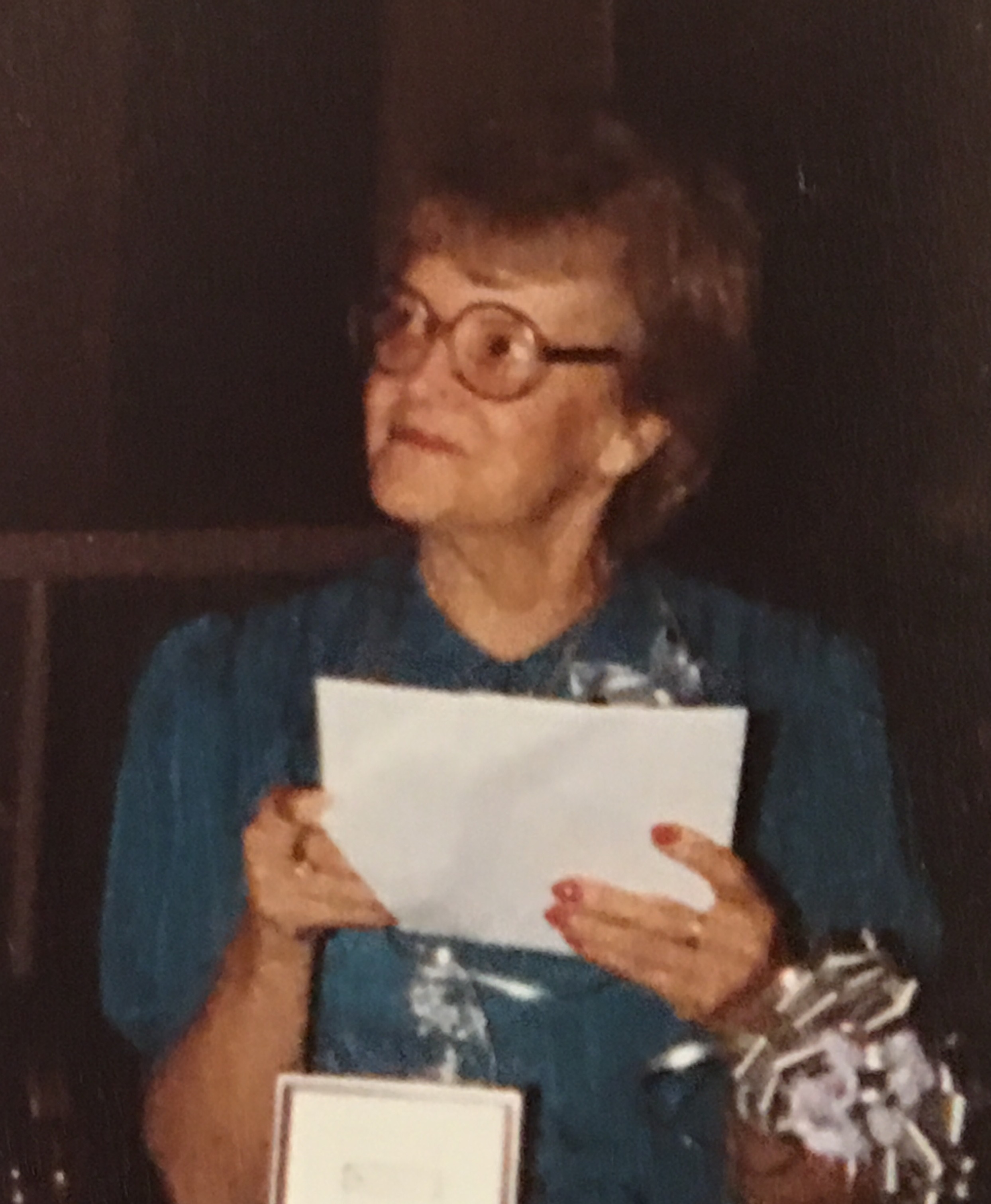 Sandy's mom at her retirement party in 1983