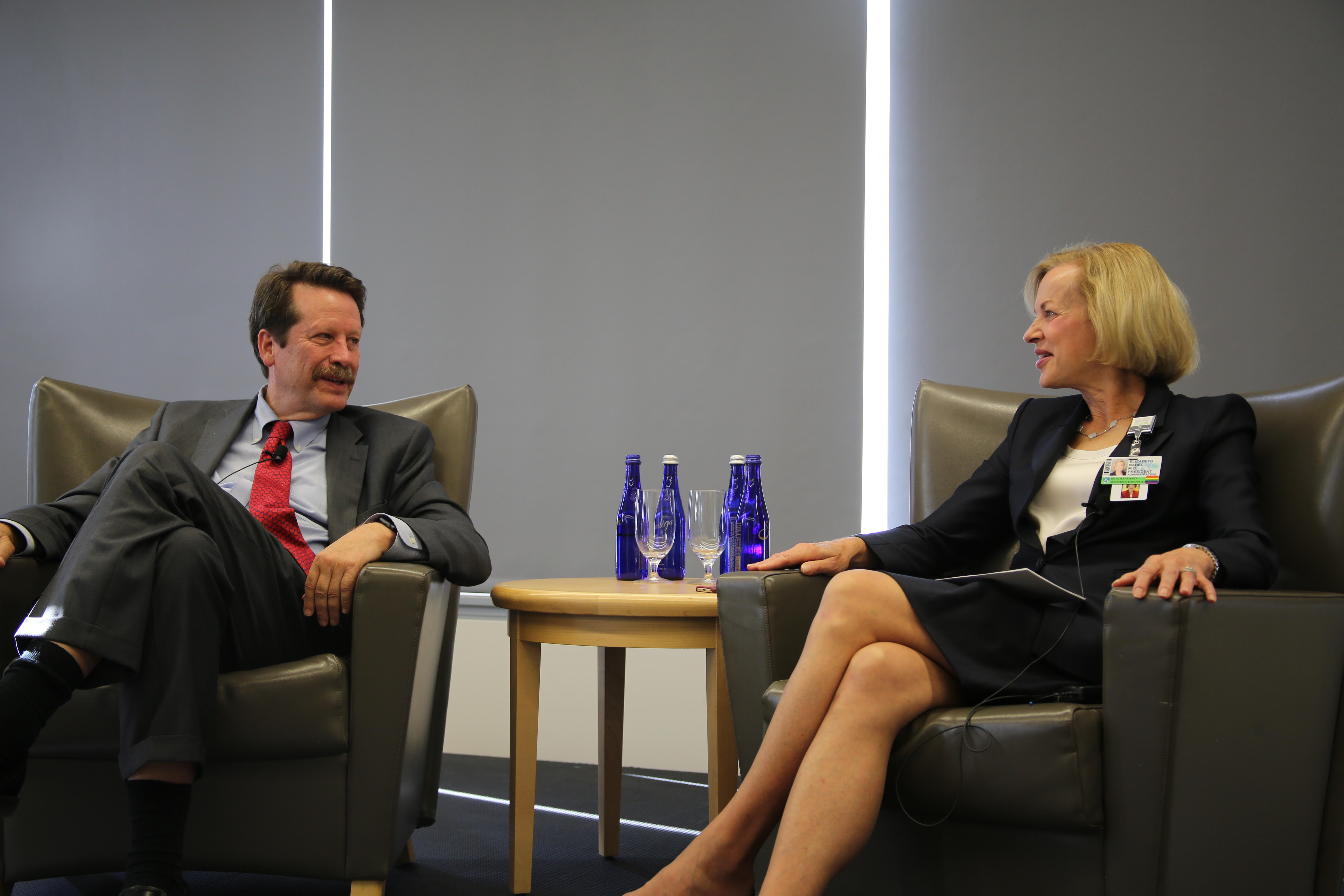 Robert Califf and Betsy Nabel discuss the FDA's need for feedback from experts at academic medical centers, such as the Brigham.