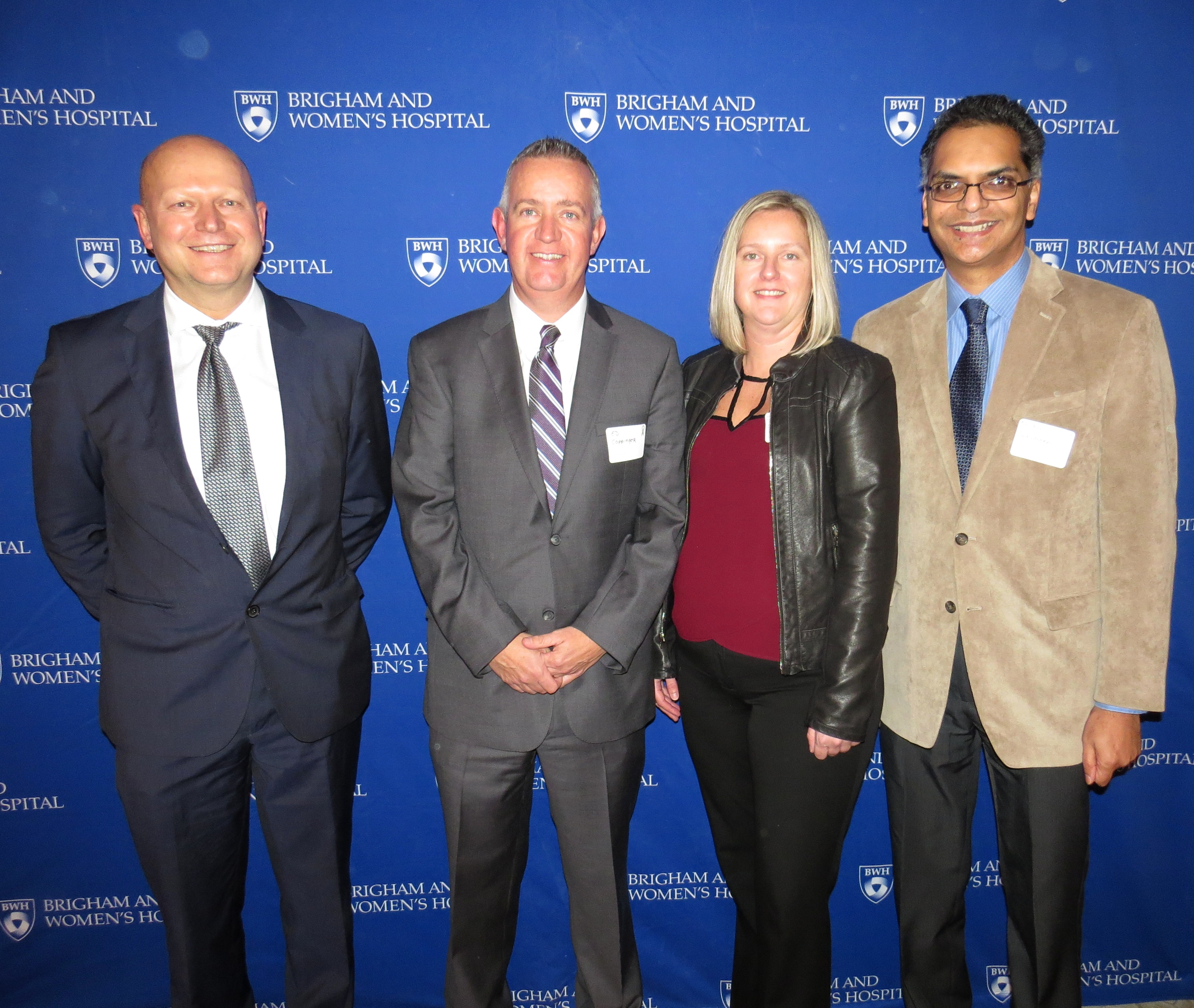 From left: Stefan Tullius, Edward Coppinger, Eileen Coppinger and Anil Chandraker, MD, medical director of Renal Transplantation, who presented on the future of kidney transplants at the event