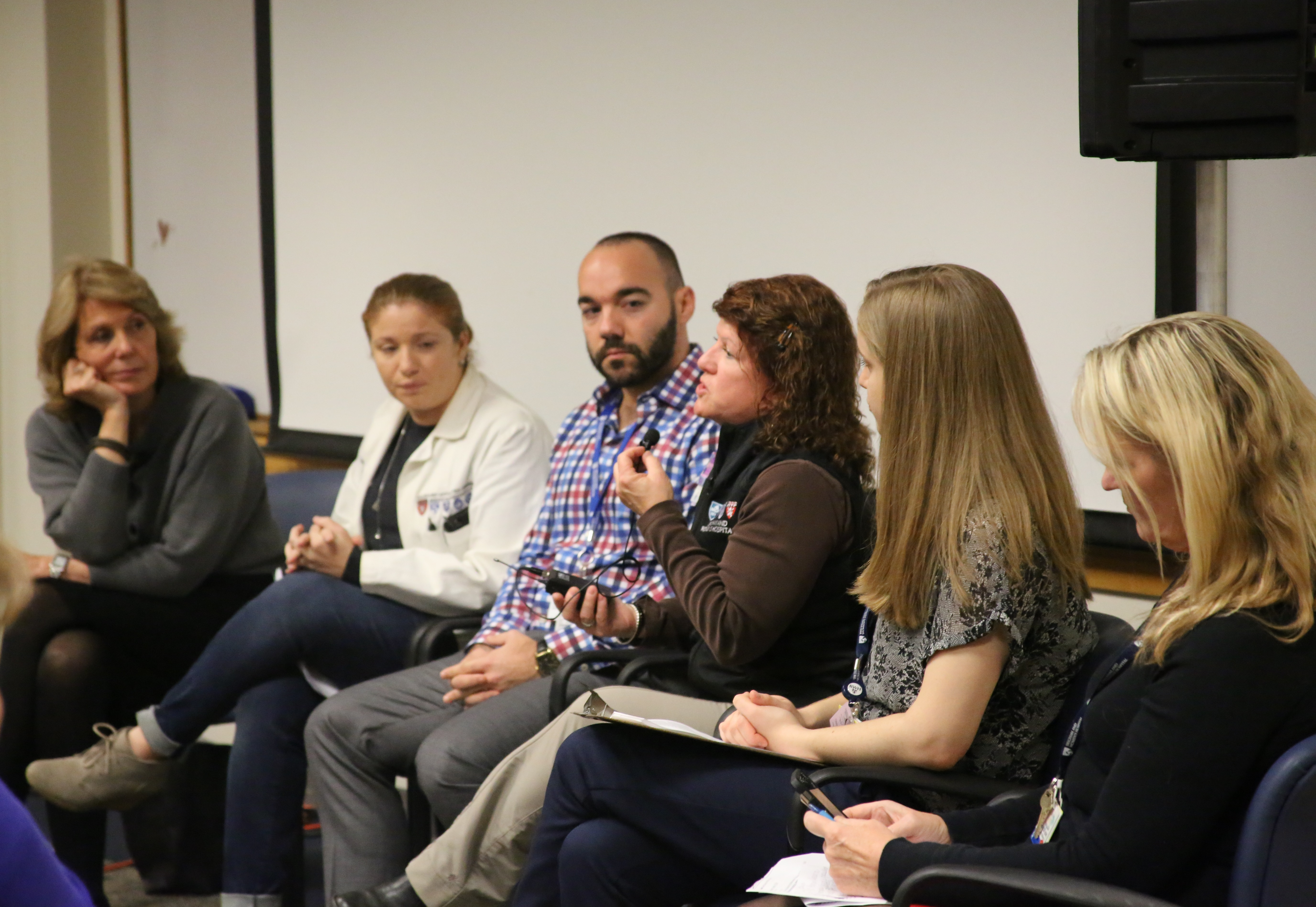 From left: Lynn Nichols, LICSW, panel moderator; Kristen Vella Gray, PA-C; Derek Monette, MD; Annie Lewis-O'Connor, PhD, NP-BC, MPH, FAAN; Isabel Checa, MSW; Deborah Jordan, MSW, LICSW