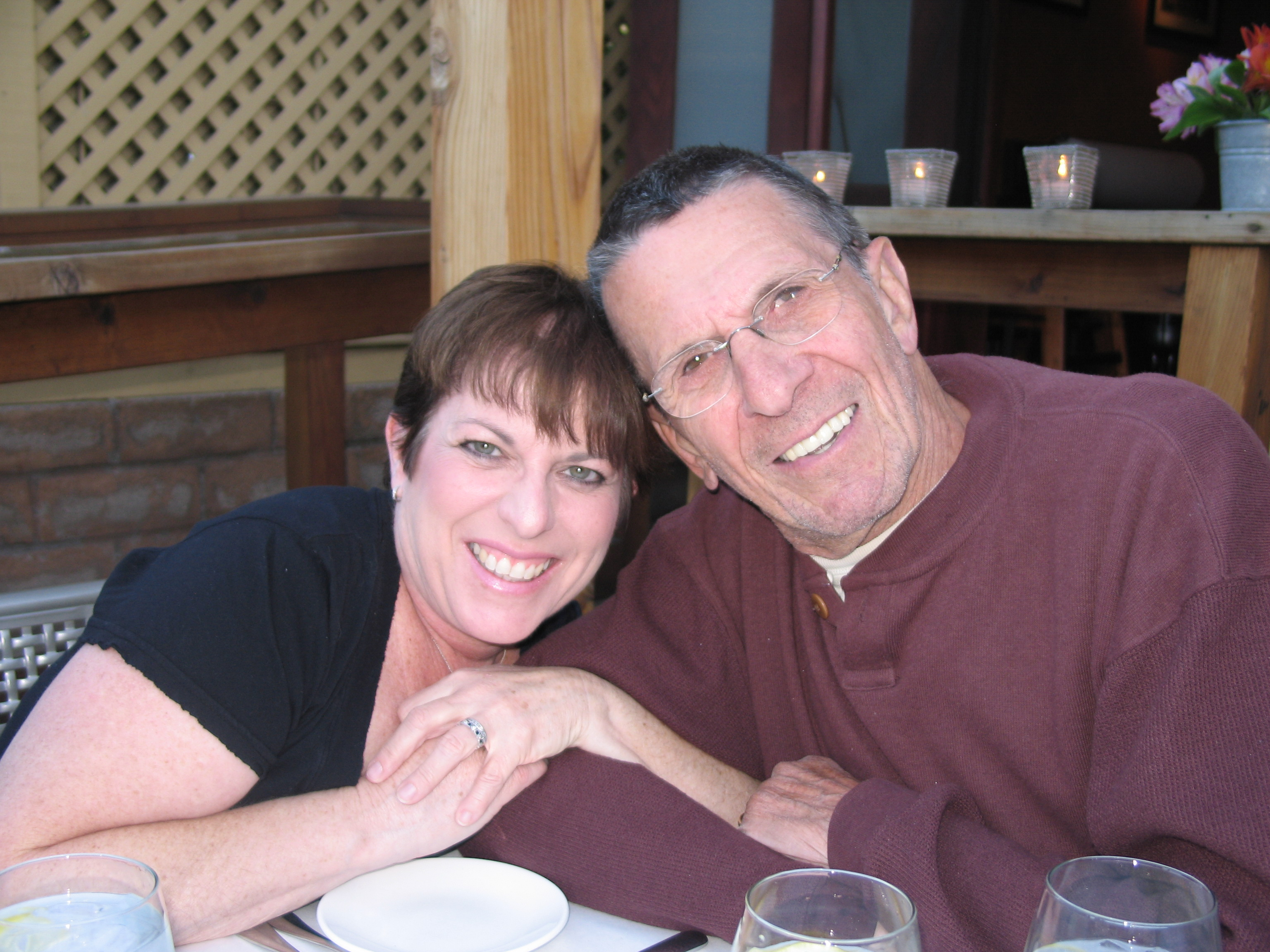 Julie Nimoy with her father, Leonard Nimoy