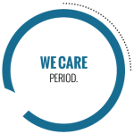 We care. Period. logo