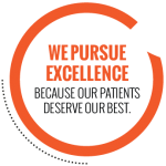 We pursue excellence logo