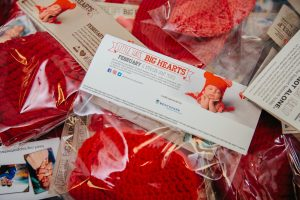 Every baby born at the Brigham in February will receive a red hat as part of the national Little Hats, Big Hearts program to raise awareness about heart disease and congenital heart defects. This year, 5,000 hats were knitted and crocheted by Brigham staff.