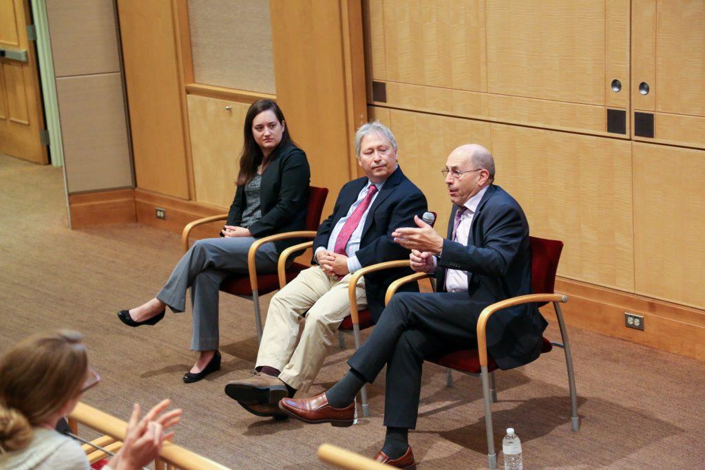 From left: Renee Salas, Peter Wayne and Bill Ravanesi