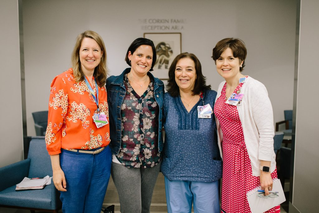 From left: Terri Gorman, Karen Cashman, Corinne Cyr-Pryor and Katherine Gregory