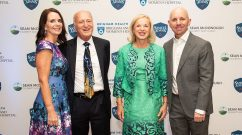 From left: Erin McDonough, Rodney Falk, Betsy Nabel and Sean McDonough
