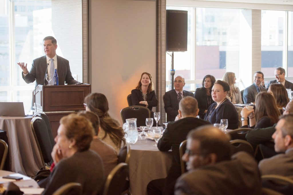 November 6, 2019 - Mayor Martin Walsh offers remarks during the Brigham and Womans Quality and Safety Conferance in Boston. (Mayor's Office Photo by Jeremiah Robinson)