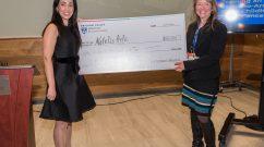 Natalie Artzi and Jackie Slavik with award check