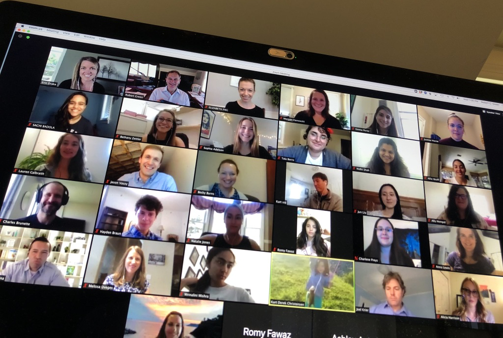 Screenshot of zoom meeting