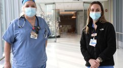 two nurses in masks