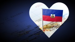 Map of Haiti with heart